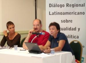 Sonia Corrêa, Rafael de la Dehesa e Gloria Careaga