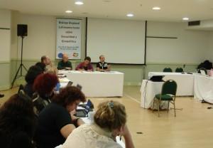 Na mesa ao fundo: Luiz Antonio Cunha, Gloria Careaga, Juan Marco Vaggione