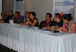 Mesa de abertura da V Conferência de ILGALAC